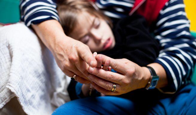 Betreutes Kind in der heilpädagogischen Tagesstätte von Helfende Hände. Foto: Max Threlfall